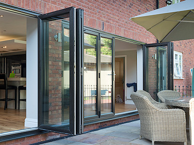 Aluminium bi-folding doors in High Peak, Derbyshire