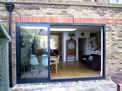 Aluminium sliding doors in High Peak, Derbyshire