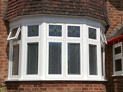 UPVC Bay double glazed windows in High Peak, Derbyshire