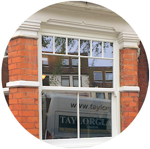 Sash double glazed windows