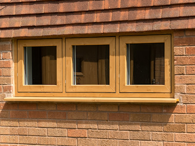 Timber double glazed windows in High Peak, Derbyshire
